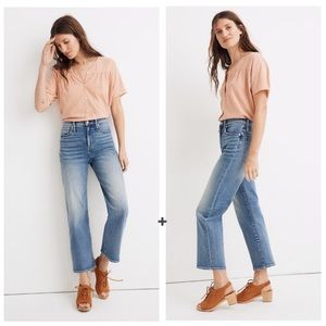 Madewell Slim Wide-Leg Crop Jeans in Reggie Wash